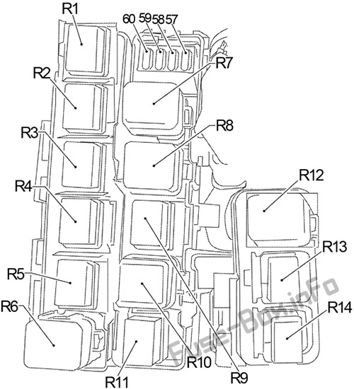 Fuse Box Diagram Nissan Frontier D40 2005 2014