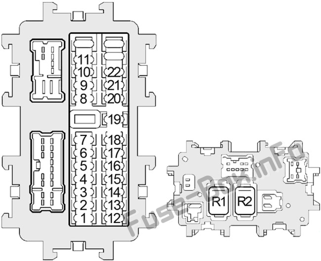 Fuse Box Diagram Nissan Quest  V42  2004