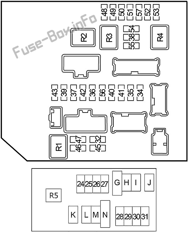 fuse box diagram nissan xterra (n50; 2005-2015)  fuse-box.info