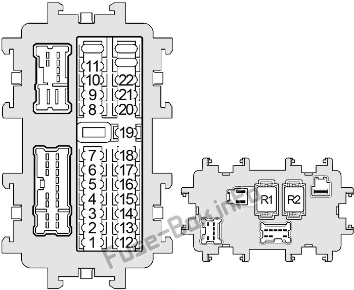 Fuse Box Diagram Nissan Xterra N50 2005 2015