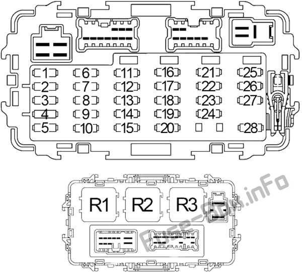 fuse box diagram nissan xterra wd22 1999 2004. Black Bedroom Furniture Sets. Home Design Ideas