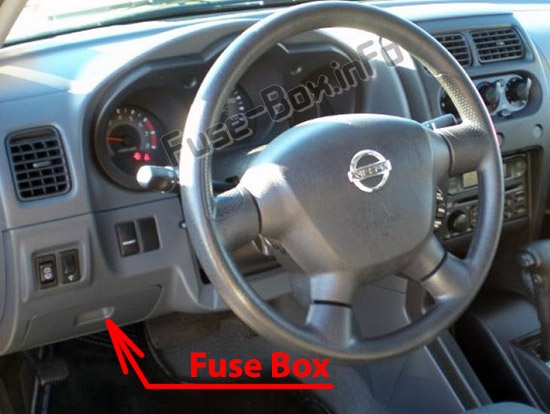 The location of the fuses in the passenger compartment: Nissan Xterra (1999-2004)