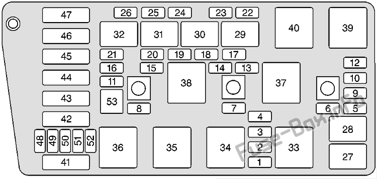 Fuse Box Diagram Oldsmobile Aurora  2001