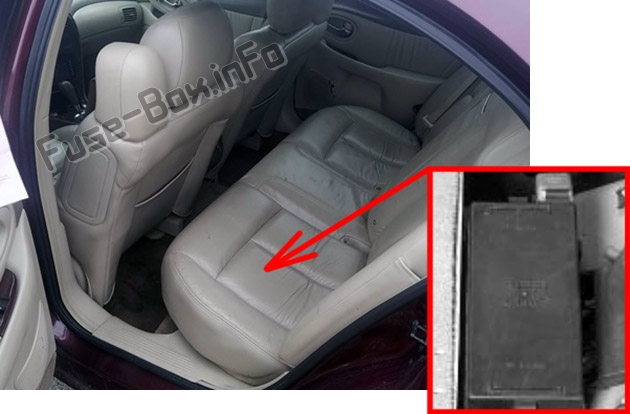 The location of the fuses in the passenger compartment: Oldsmobile Aurora (2001, 2002, 2003)
