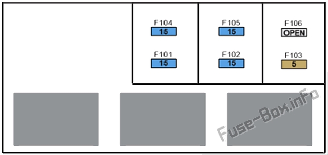 Fuse box №4 diagram: Tesla Model S (2013, 2014)
