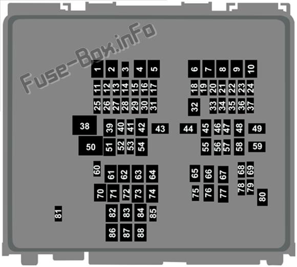 Under-hood fuse box diagram: Lincoln Corsair (2020-...)