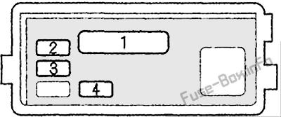 ABS fuse box: Acura Integra (2000, 2001)