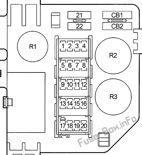 Fuse Box Diagram Dodge Ram 1500    2500    3500  1994
