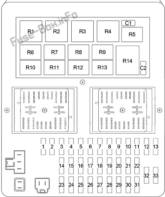 Fuse Box Diagram Jeep Grand Cherokee (WJ; 1999-2005)