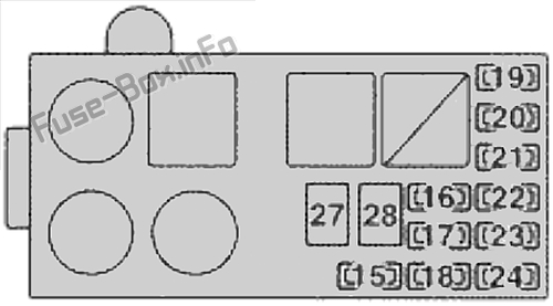 Under-hood fuse box diagram: Lexus LX450 (1996, 1997)