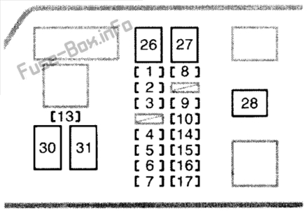 Fuse Box Diagram Toyota 4Runner (N180; 1995-2002)Fuse-Box.info
