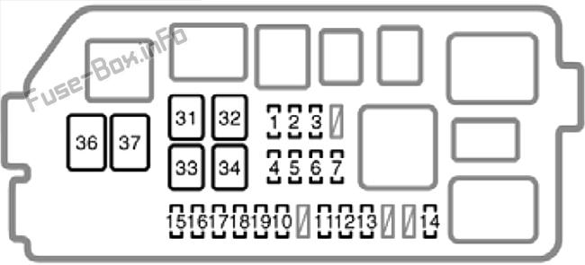 Under-hood fuse box diagram: Toyota 4Runner (1999, 2000)