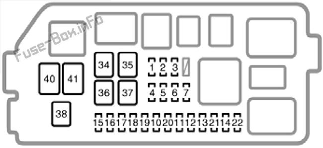 Under-hood fuse box diagram: Toyota 4Runner (2001, 2002)