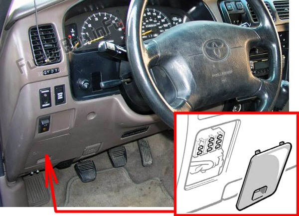 Fuse Box Diagram Toyota 4Runner (N180; 1995-2002) Fuse-Box.info
