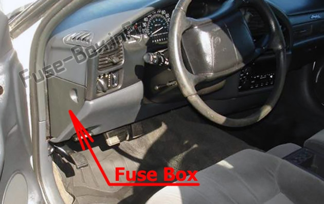 The location of the fuses in the passenger compartment: Buick Skylark (1996, 1997, 1998)