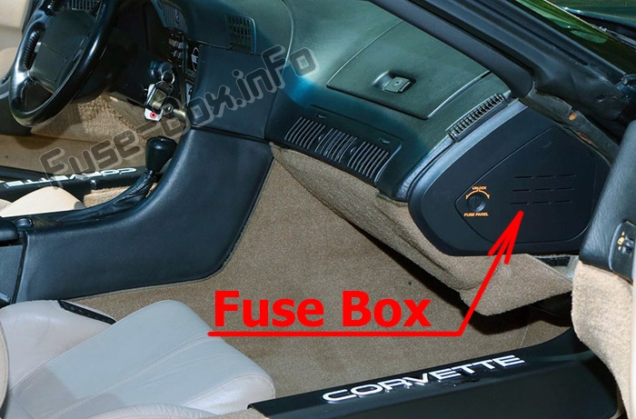 Fuse Box Diagram Chevrolet Corvette  C4  1993