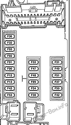 Interior fuse box diagram: Chrysler 200 (2015)