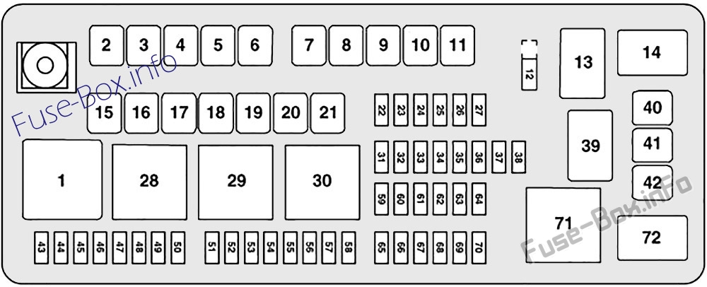 Fuse Box Diagram Dodge Charger  2011