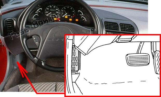 Fuse Box Diagram Ford Probe 1992 1997