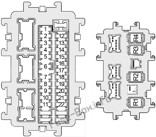 2005 Infiniti G35 Interior Fuse Box Diagram