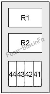 Under-hood fuse box #3 diagram: Infiniti M35, M45 (2006, 2007, 2008, 2009, 2010)