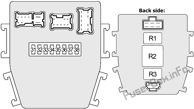 Interior fuse box diagram (right): Infiniti M45 (2003-2004)
