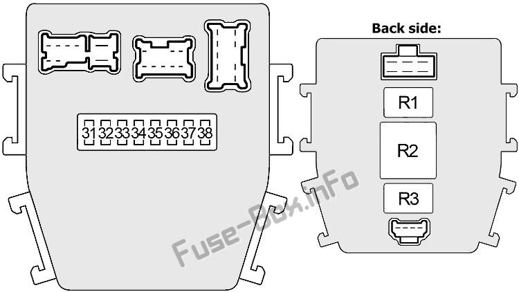 Interior fuse box #2 diagram: Infiniti Q45 (2001, 2002, 2003, 2004, 2005, 2006)