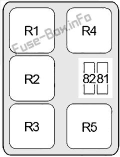 Relay Box #1: Infiniti Q45 (2001, 2002, 2003, 2004, 2005, 2006)