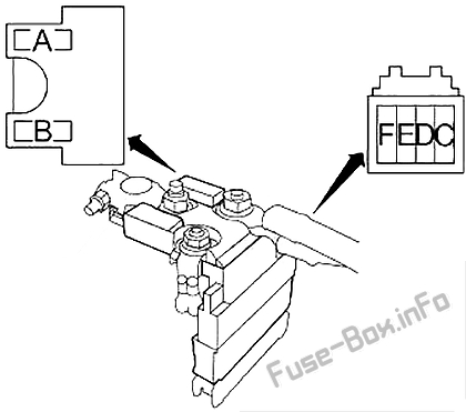 fuse box diagram infiniti q50 (v37; 2013-2015)  fuse-box.info