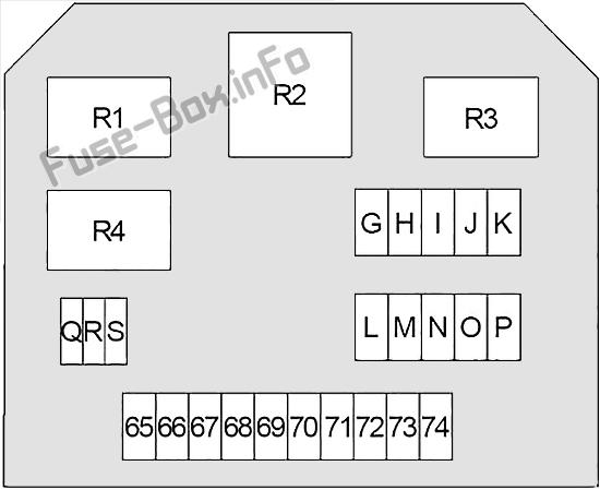 Under-hood fuse box #2 diagram: Infiniti Q50 (2013, 2014, 2015)