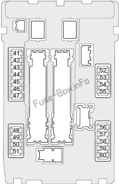 Under-hood fuse box #1 diagram: Infiniti QX50 (2013, 2014, 2015, 2016, 2017)
