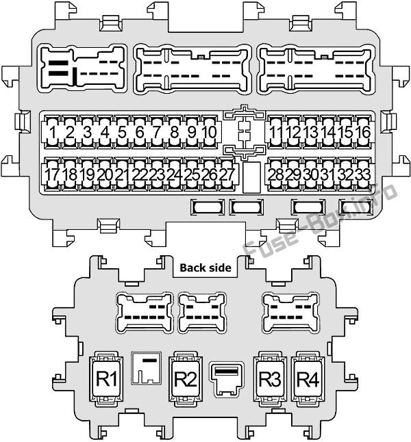 Fuse Box Diagram Infiniti Jx35  Qx60  2012
