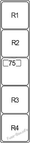 Relay Box #2: Infiniti JX35,QX60 (2012, 2013, 2014, 2015, 2016, 2017)