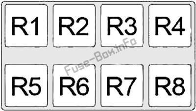 Relay Box №2: Infiniti i30, i35 (1998, 1999, 2000, 2001, 2002, 2003, 2004)