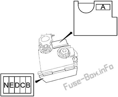 Fusible Link Block (Main Fuses): Nissan Quest (2011, 2012, 2013, 2014, 2015, 2016, 2017)