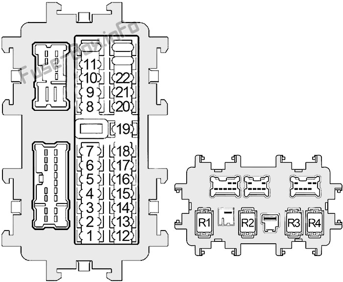 Fuse Box Diagram Nissan Quest  Re52  2011