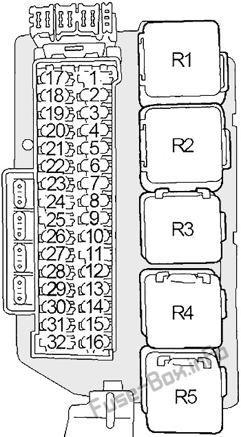 Fuse Box Diagram Nissan Quest  V41  1998