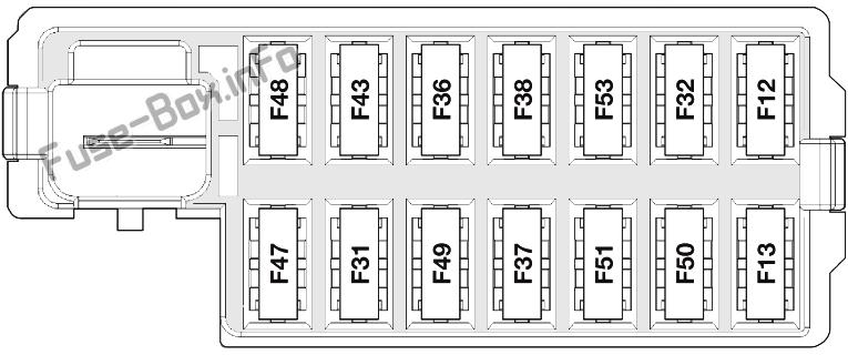 Fuse Box Diagram Ford Ka  2008