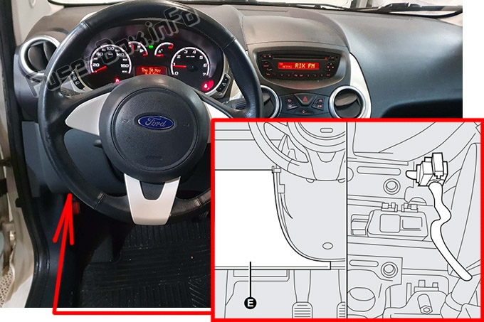 Fuse Box Diagram Ford KA (2008-2014) | Ford Ka Fuse Box Horn |  | Fuse-Box.info