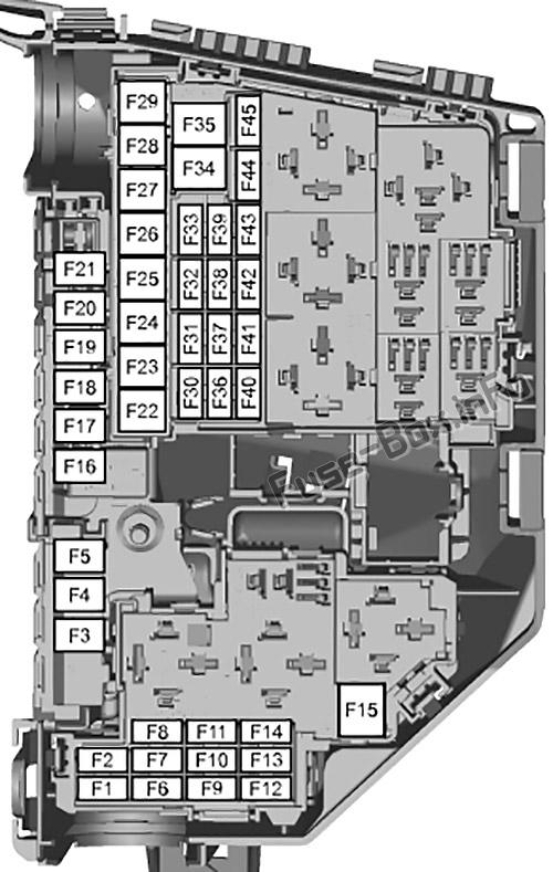 Under-hood fuse box diagram: Ford S-MAX / Ford Galaxy (2006, 2007, 2008, 2009, 2010, 2011, 2012, 2013, 2014)