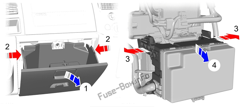 Passenger junction box location: Ford Transit (2007-2014)