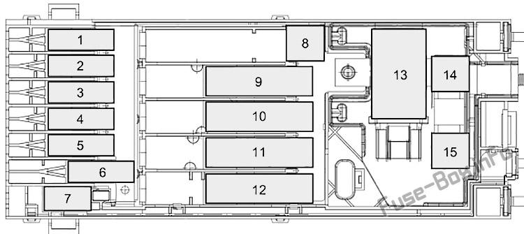 Pre-fuse Box diagram: Ford Transit (2019, 2020, 2021...)