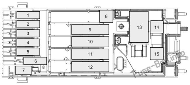 Pre-fuse Box diagram: Ford Transit Custom (2019, 2020-..) 2.0L