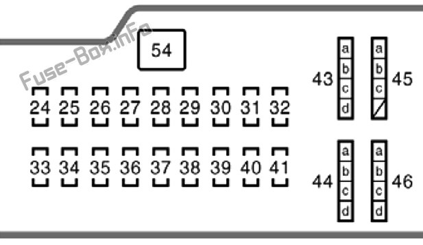 Interior fuse box diagram: Toyota Celica (1999, 2000, 2001, 2002, 2003, 2004, 2005, 2006)