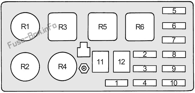 Fuse Box Diagram Toyota Land Cruiser  80  J80  1990