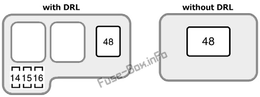 Under-hood fuse box #2 diagram: Toyota Sienna (1998, 1999, 2000)