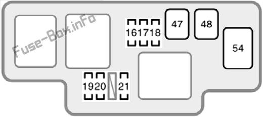 Under-hood fuse box #2 diagram: Toyota Sienna (2001, 2002, 2003)