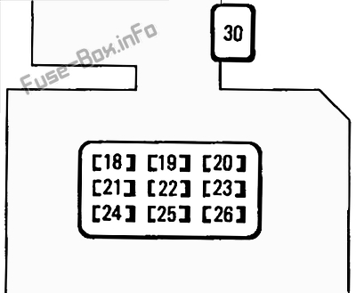 Instrument panel fuse box diagram: Toyota Tacoma (1995, 1996, 1997)