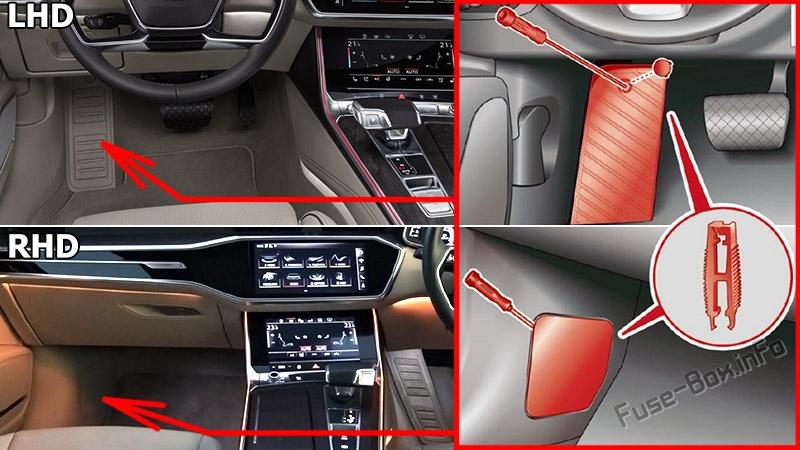 Fuse Box Diagram Audi A6 / S6 (C8/4K; 2018-2020...) Fuse-Box.info