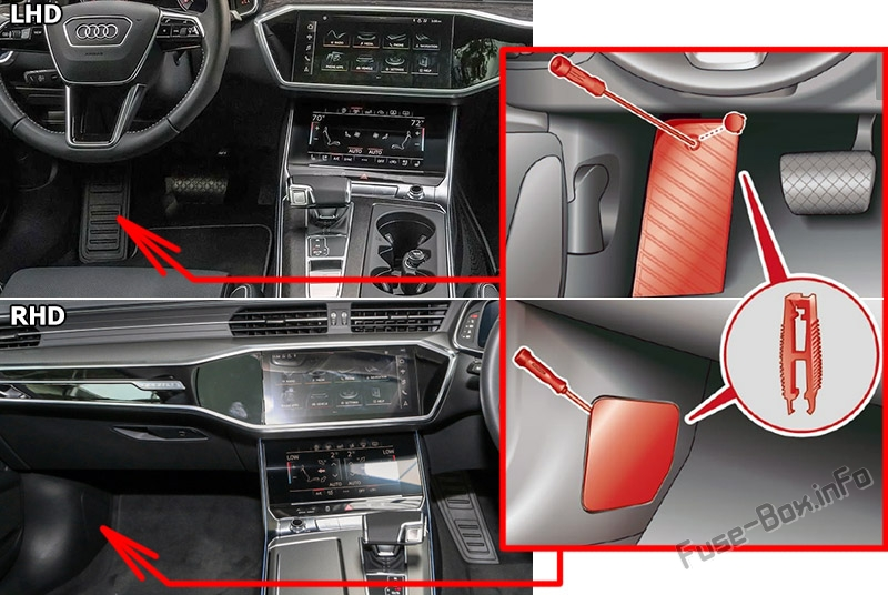 Fuse Box Diagram Audi A7    S7  4k8  2018